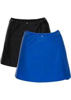 Отдельная юбка для купальника (2 шт.) (черный и королевский синий) Bonprix