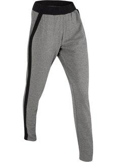 Длинные спортивные брюки (серый меланж) Bonprix