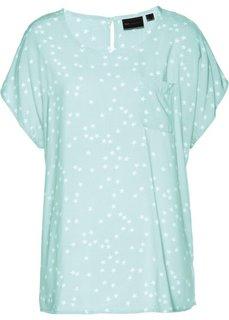 Блузка (мятный пастельный/белый с рисунком) Bonprix