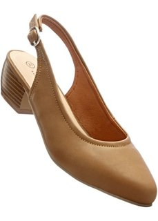 Туфли с открытой пяткой (верблюжий) Bonprix