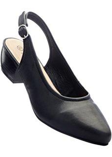 Туфли с открытой пяткой (черный) Bonprix