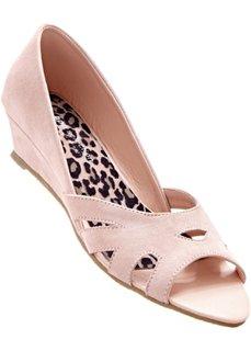 Туфли на танкетке (дымчато-розовый) Bonprix