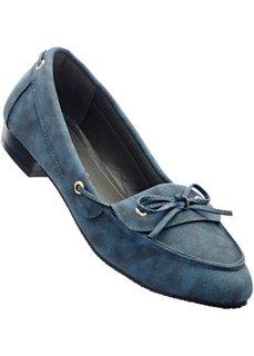Мокасины, широкая стопа (сизо-голубой) Bonprix