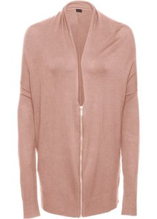 Кардиган в стиле оверсайз, на молнии (винтажно-розовый) Bonprix