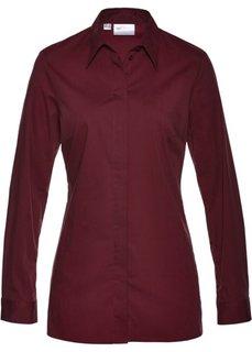 Удлиненная блузка-стретч (темно-бордовый) Bonprix