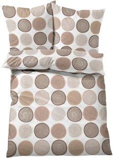 Постельное белье Круги, линон (кремовый) Bonprix
