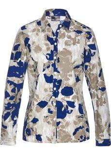 Блузка с принтом (голубой) Bonprix