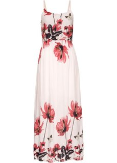 Макси-платье с принтом (розовый с узором) Bonprix