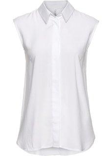 Блузка с оригинальной спинкой (белый) Bonprix