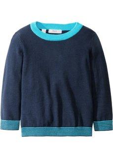 Вязаный пуловер (темно-синий/карибский синий) Bonprix