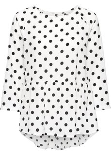 Блузка в горошек (белый/черный в горошек) Bonprix