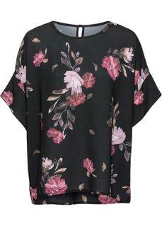 Блузка с принтом (черный с узором) Bonprix