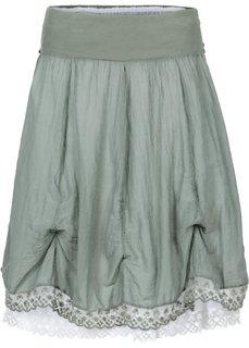 Двухслойная юбка (зеленый) Bonprix