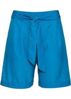 Шорты с текстильным ремнем (капри-синий) Bonprix