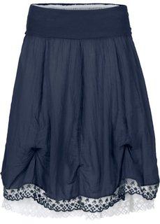 Двухслойная юбка (темно-синий/белый) Bonprix