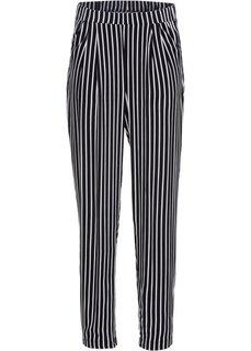 Легкие брюки (черный/белый в полоску) Bonprix
