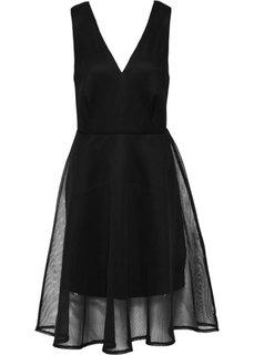Платье в сеточку (черный) Bonprix