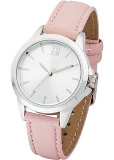 Часы на классическом браслете (розовый/серебристый) Bonprix