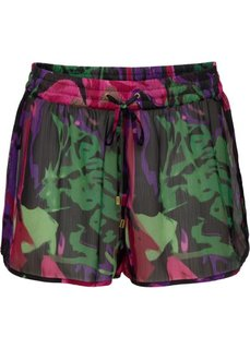 Пляжные шорты (черный/ярко-розовый) Bonprix