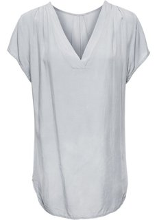 Сатиновая блузка (серебристый) Bonprix