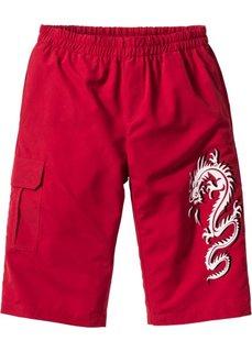 Удлиненные бермуды (темно-красный) Bonprix
