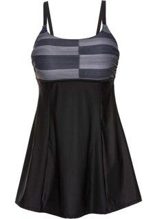 Формирующее купальное платье (черный/серый) Bonprix