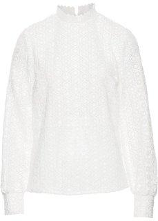 Кружевная блузка (белый) Bonprix