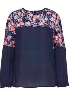 Блузка с принтом (ночная синь с рисунком) Bonprix