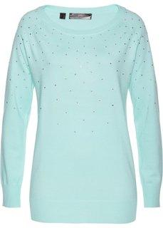 Длинный пуловер (мятный) Bonprix
