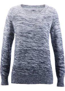 Пуловер меланж с цветовым переходом (темно-синий) Bonprix