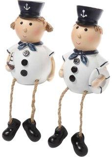 Декоративные фигурки Моряки (2 шт.) (синий/белый) Bonprix