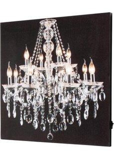 Картина со светодиодным освещением Люстра (кремовый/черный) Bonprix