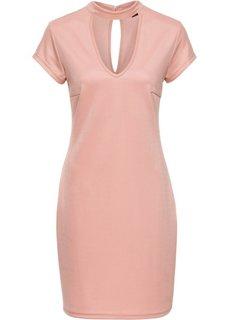 Трикотажное платье с чокером (розовый матовый) Bonprix