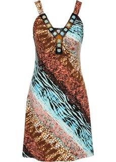 Летнее платье (бирюзовый с узором) Bonprix