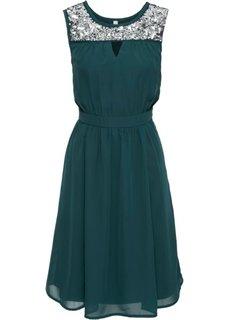 Вечернее платье с пайетками (зеленый) Bonprix