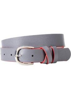 Ремень с контрастным кантом (серый/кленово-красный) Bonprix