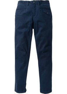 Стрейтчевые брюки Slim Fit, cредний рост (N) (темно-синий) Bonprix