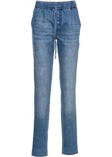 Спортивные джинсы на кулиске, cредний рост (N) (голубой) Bonprix