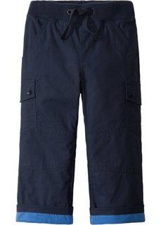 Утепленные брюки с карманами-карго (темно-синий/ледниково-синий) Bonprix