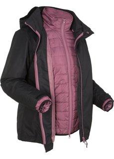 Функциональная куртка 3 в 1 (черный) Bonprix