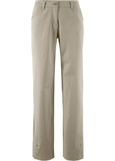 Стрейчевые брюки (новый хаки) Bonprix