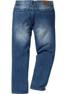 Джинсы Regular Fit Straight с контрастными швами, cредний рост (N) (синий) Bonprix