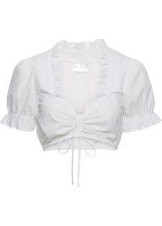 Блузка под дирндль (кремовый) Bonprix