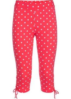 Быстросохнущие купальные брюки-капри (красный/белый в горошек) Bonprix