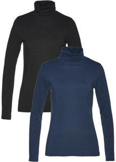 Водолазка (2 шт.) (темно-синий + черный) Bonprix
