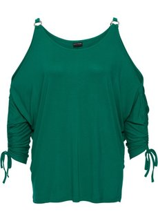 Футболка с драпировками (зеленая паприка) Bonprix