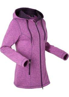 Вязаная флисовая куртка (пионовый меланж) Bonprix
