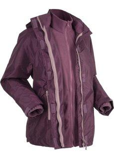 Функциональная куртка 3 в 1 с капюшоном (цвет бузины) Bonprix