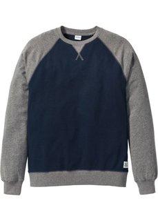 Свитшот Regular Fit с рукавом-реглан (темно-синий) Bonprix