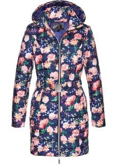 Удлиненная стеганая куртка (темно-синий с рисунком) Bonprix